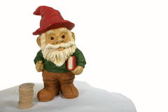 Gnome Teacher of Finance Royalty Free Stock Photography