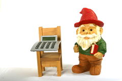 Gnome Teacher of math Royalty Free Stock Images