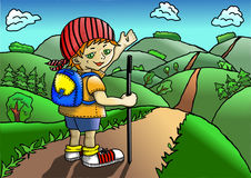Gnome traveler Stock Photo