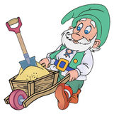 Gnome with a trolley Royalty Free Stock Images
