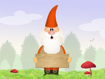 Gnome in the wood Royalty Free Stock Photos