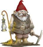 gnomegruvarbetare Arkivfoton