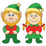 Gnomes, boy and girl Royalty Free Stock Photo