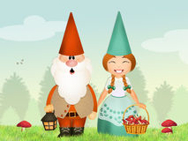 Gnomes couple Royalty Free Stock Photos