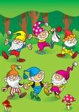 Gnomes de danse Photographie stock libre de droits
