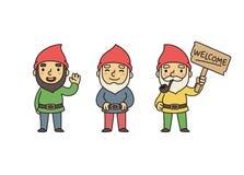 Gnomes de jardin Photographie stock libre de droits