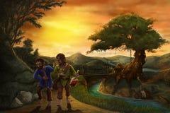 Gnomes de pays des merveilles illustration de vecteur