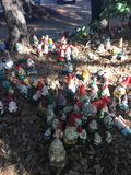 Gnomes display in Gnomesville stock photography