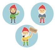 Gnomes do jardim Imagem de Stock Royalty Free