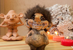 Gnomes. Figurines depicting gnomes and other magical creatures of the forest Stock Image