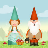 Gnomes in the forest Stock Photography