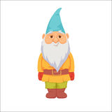 Gnomes. Funny dwarf. Fairy tale. Fantastic character set. Magical stories vector clip art. Cute garden decorations Royalty Free Stock Photo