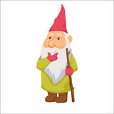 Gnomes. Thoughtful dwarf. Stock Photos
