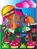 Gnomlekplats royaltyfri illustrationer