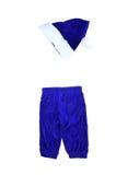 Gnomo azul do terno isolado no branco Fotos de Stock