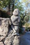 Gnomo de la escultura Fotos de archivo