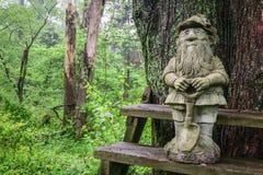 Gnomo di giardinaggio nella foresta Immagini Stock Libere da Diritti