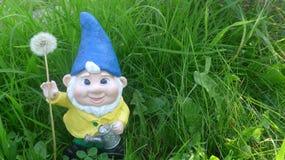 Gnomo do jardim com água fotos de stock royalty free