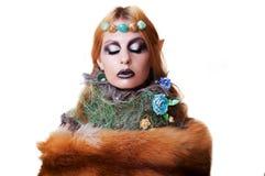 Gnomo hermoso de la muchacha de Halloween Imagenes de archivo