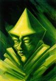 Gnomo verde ilustração royalty free