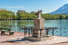 Gnomon in Annecy, France Stock Photo