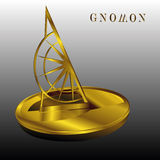 Gnomon sundial Pomiarowy instrument royalty ilustracja