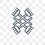 Gnosticismvektorsymbol på genomskinlig bakgrund, linea royaltyfri illustrationer