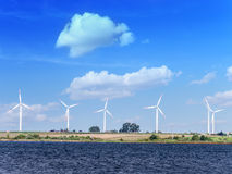 Générateurs d'énergie éolienne Images libres de droits