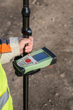 GNSS receiver with field controller Stock Photo