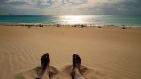 Gnuśny dzień na plaży Obraz Stock