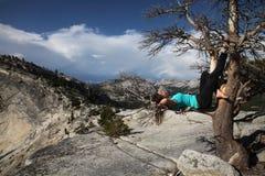 Gnuśny dzień przy Yosemite obrazy royalty free