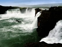 Goðafoss in Iceland Stock Images