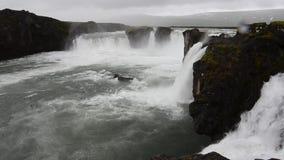 Goðafoss στην Ισλανδία απόθεμα βίντεο