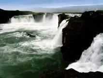 Goðafoss i Island Arkivbilder