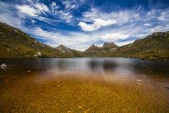 Gołąbka jezioro, kołyska Mt. Fotografia Stock
