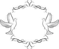 Gołąbki i ramy tło ilustracji