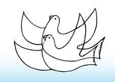 gołąbki pokojowe royalty ilustracja