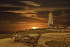 Gołębia punkt latarnia morska - Kalifornia wybrzeże Zdjęcie Stock