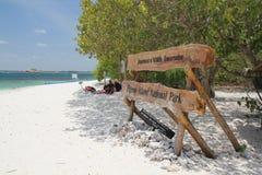 Gołębia wyspa Obraz Royalty Free