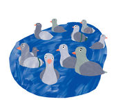 gołębie ilustracja wektor