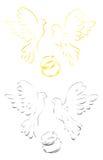 gołębie miłości Obrazy Stock