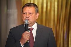 Gość honoru gubernatora poprzedni gubernator Leningrad region Valery Serdyukov Zdjęcia Royalty Free