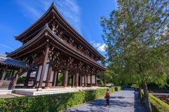 Gość przy Sammon bramą, Kyoto Zdjęcie Stock