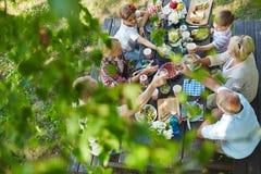 Gość restauracji pod ulistnieniem Fotografia Stock