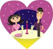 gość restauracji romantyczny royalty ilustracja
