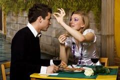 gość restauracji romantyczny zdjęcie stock