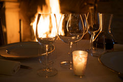 gość restauracji romantyczny Obrazy Royalty Free
