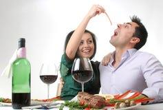 gość restauracji romantyczny Zdjęcia Royalty Free