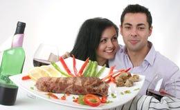 gość restauracji romantyczny Zdjęcie Royalty Free