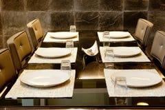 Gość restauracji stół Zdjęcia Royalty Free